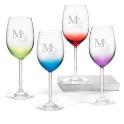 Color Wine Glass Set
