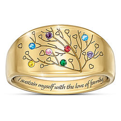 Love of Family Women's Personalized Birthstone Ring