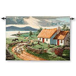 Irish Countryside Tapestry Wall Art