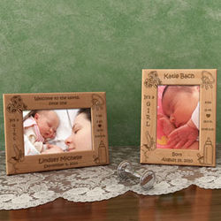 Personalized Girl Birth Announcement Wooden Picture Frame