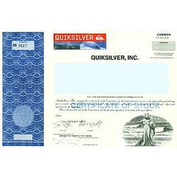 One Share of Quiksilver Stock