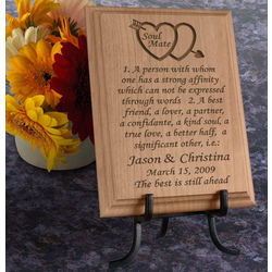 Personalized Soul Mate Definition Wooden Plaque