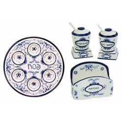 Four Piece Ceramic Seder Set