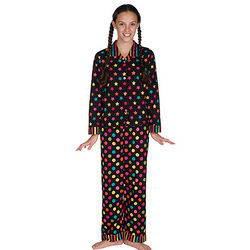 Bright Night Button Up Pajamas for Girls
