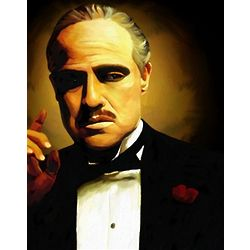 Marlon Brando as the Godfather Print