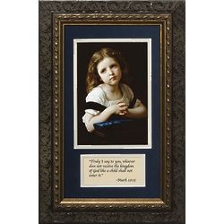 La Priere Framed Print with Prayer