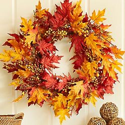 Autumn Leaf and Berry Wreath