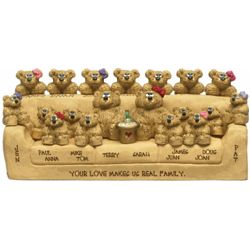 Grandparents with 14 to 19 Family Bears Figurine