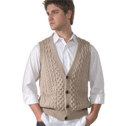 Merino Wool V-Neck Vest