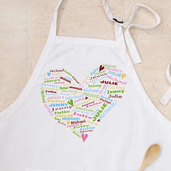 Her Heart of Love Personalized Apron