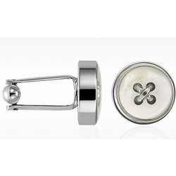 Mother of Pearl Silver Plated Cufflinks