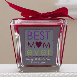 Personalized Best Mom Ever Spice Candle