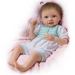 Touch-Activated Lifelike Baby Girl Doll with Moving Feet