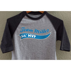 Personalized Lil MVP Baseball T-Shirt