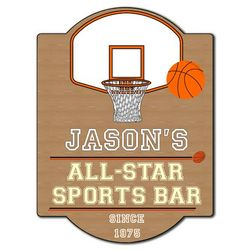 Personalized All Star Sports Bar Sign