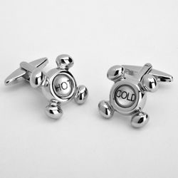 Dashing Hot and Cold Cufflinks with Personalized Case