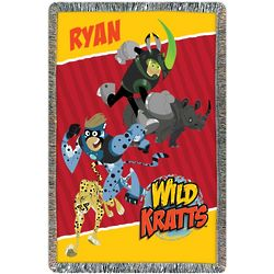 Wild Kratts Creature Power Throw Blanket