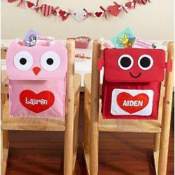 Personalized Mini Backpack Valentine Card Holder