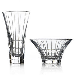 Avenue Crystal Bowl and Vase Set