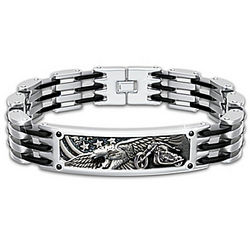 Born to Ride Men's Stainless Steel Biker Bracelet
