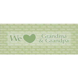 Personalized We Love Wall Canvas
