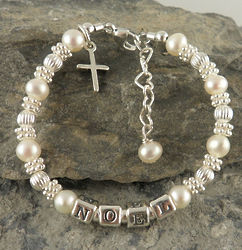 Personalized Baptism Bracelet