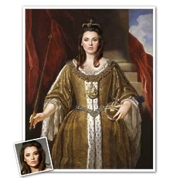 Personalized Classic Painting Queen Anne II Framed Art Print