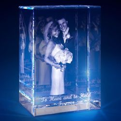Couple's Anniversary Small 3D Crystal Portrait