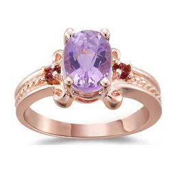 14K Rose Gold Kunzite and Pink Tourmaline Ring
