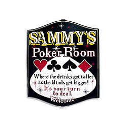 Poker Room Personalized Sign