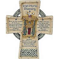 8 Inch Irish Home Blessing Cross