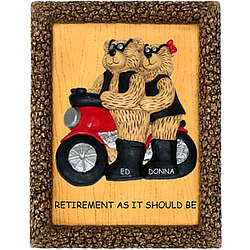Retirement Plaque Personalized for Motorcycle Couple
