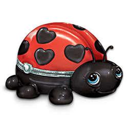 Little Cutie Porcelain Ladybug Music Box