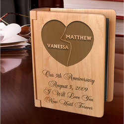 Personalized My Better Half Wooden Photo Album