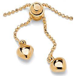 10K Gold Lariat Ankle Bracelet