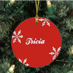 Personalized Snowflake Ceramic Ornament