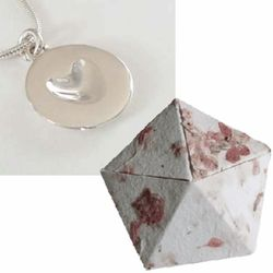 1st Anniversary Silver Melting Heart Necklace in Origami Box