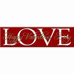 Valentine's Day Love Plaque