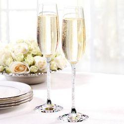 Swarovski Champagne Toasting Flutes