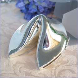 Silver Fortune Cookie Wedding Favors