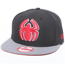 Black Spiderman Snapback Cap