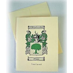 12 Personalized Coat of Arms Note Cards