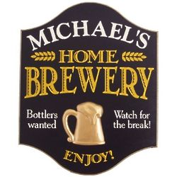 Home Brewery Personalized Sign