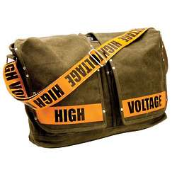 High Voltage Laptop Messenger Bag