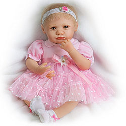 Lifelike Teary-Eyed Poseable Baby Girl Doll