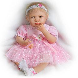 Lifelike Teary-Eyed Poseable Baby Girl Doll