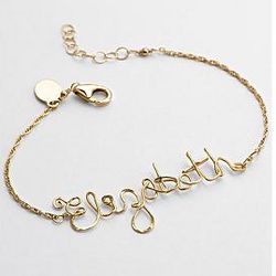 Gold Wire Wrapped Personalized Bracelet