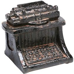 Ceramic Typewriter Figurine