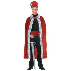 King Robe and Crown Adult Men's Costume