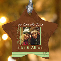 My Sister, My Friend Personalized Photo Ornament